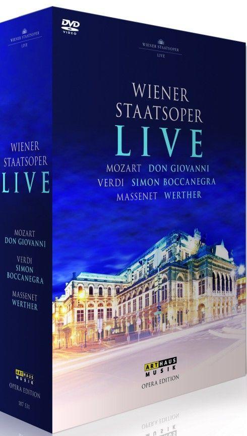 Wiener Staatsoper Live; Mozart; Don Giovanni, Verdi; Simon Boccanegra, Massenet; Werther. 3DVD