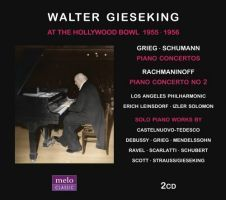 Walter Gieseking, klaver. Hollywood Bowl 1955-56 (2 CD)